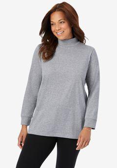 Perfect Long Sleeve Mock Turtleneck,