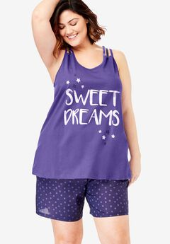 Racerback Cami Shorty PJ Set by Dreams & Co.®,