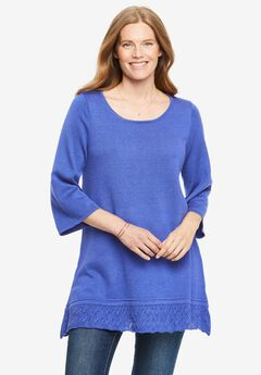 Pointelle Pullover Sweater,