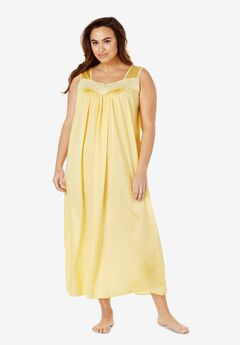 Long Tricot Knit Nightgown by Only Necessities®, BANANA