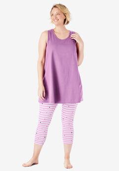 Scoopneck Tank & Capri Legging PJ Set by Dreams & Co.®,