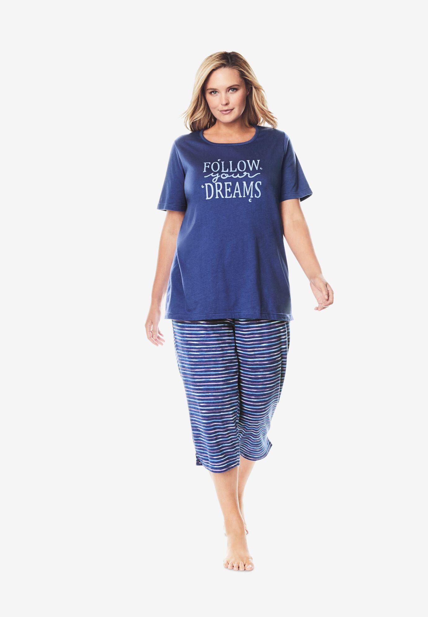 Womens Plus Size Lounge Tee Dreams /& Co