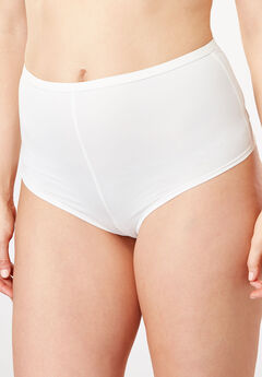 Microfiber Hipster Panty by Comfort Choice®, WHITE, hi-res