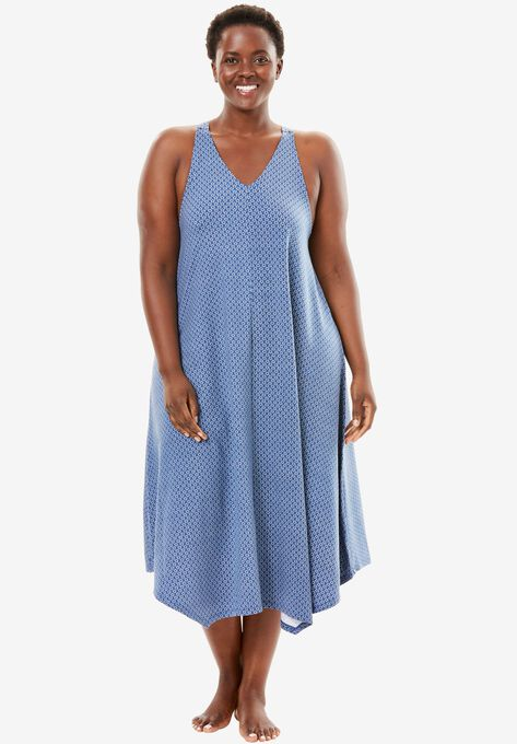 3e684f51437f5 Long V-Neck Nightgown by Dreams & Co.®| Plus Size Nightgowns | Roaman's