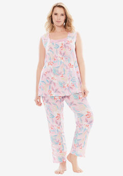 Whisperweight Gauze PJ Set by Dreams & Co.®, GARDEN ROSE FLORAL, hi-res