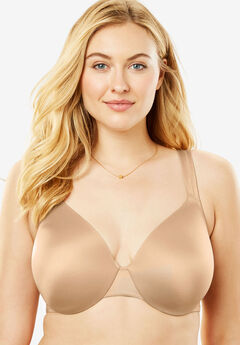 Microfiber Underwire T-Shirt Bra by Comfort Choice®, NUDE, hi-res