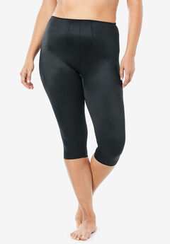 Light Control Capri Pant Liner 920, BLACK