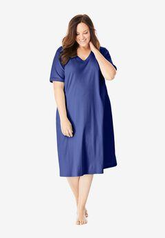 Short T-Shirt Lounger by Dreams & Co.®, ULTRA BLUE