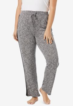 Supersoft Lounge Pant by Dreams & Co.®, HEATHER CHARCOAL GREY MARLED