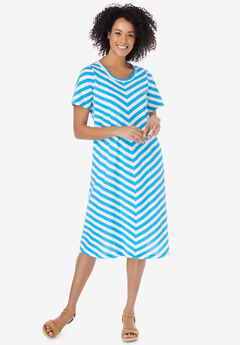 Mitered Stripe Dress,