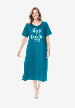 Scoopneck Sleepshirt by Dreams & Co.®,