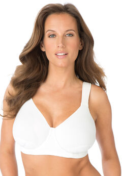 Petal Boost® Underwire Bra by Comfort Choice®, WHITE, hi-res