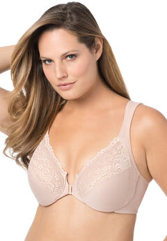 Front-Hook Stretch Lace Wonderwire® Bra from Glamorise®, CAFE, hi-res