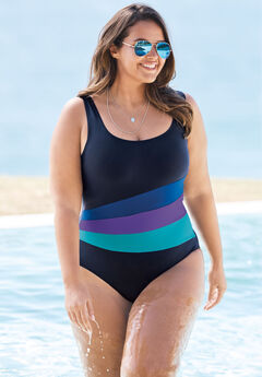 Colorblock One-Piece,