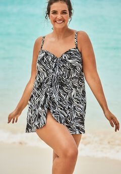 Mesh-Draped Swimsuit,
