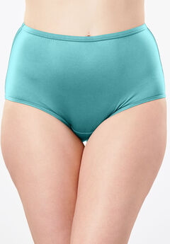 Stretch Microfiber Full-Cut Brief by Comfort Choice®, AZURE, hi-res
