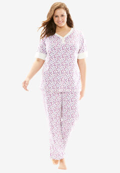 Print pj set by Dreams & Co®, MULTI PURPLE TRIANGLE, hi-res