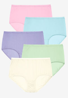 5-Pack Cotton Full-Cut Brief by Comfort Choice®, PASTEL PACK, hi-res