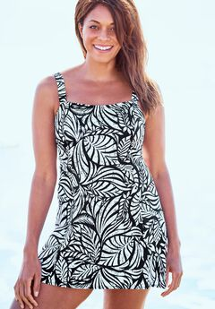 Princess-Seam Swim Dress ,