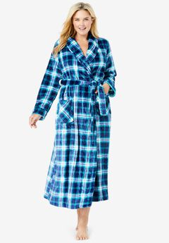 Microfleece Wrap Robe ,