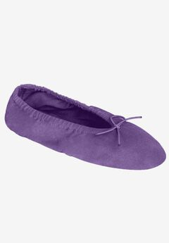 Knit Ballerina Slippers by Dreams & Co.®, VIOLET BLOOM