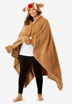 Animal Hood Sherpa Wrap by Dreams & Co.®,