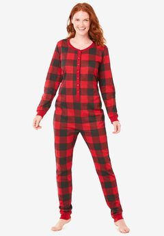 Holiday Print Onesie Pajama ,