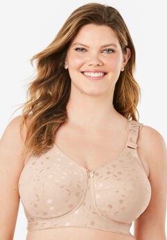 Elila® Jacquard Wireless Bra #1305, NUDE