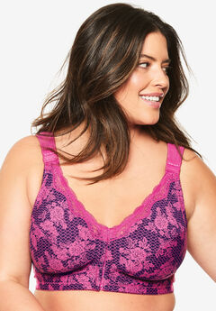 Front-Close Cotton Wireless Posture Bra by Comfort Choice®,
