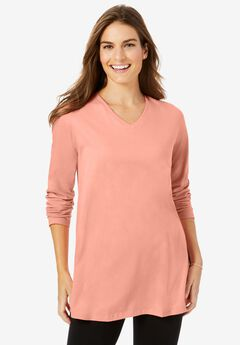 Perfect Long Sleeve V-Neck Tunic,