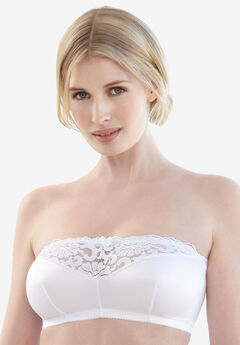 Glamorise® Strapless Leisure Bra #1800, WHITE