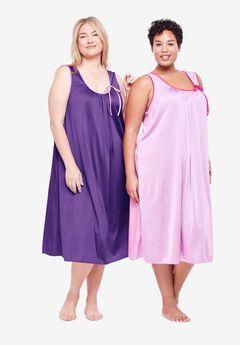 2-Pack Sleeveless Nightgown by Only Necessities®, PLUM BURST IRIS