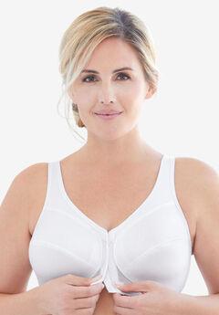 Glamorise® Magic Lift® Front-Close Posture Wireless Bra #1265, WHITE