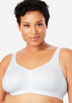 Cotton Comfort Wireless Back-Hook Bra by Comfort Choice®,