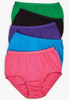 5-Pack Pure Cotton Full-Cut Brief by Comfort Choice®, BRIGHT PACK