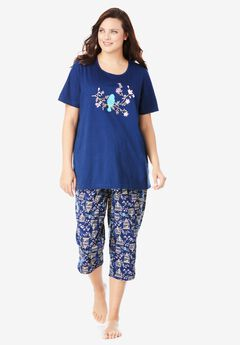 Graphic Tee Capri PJ Set by Dreams & Co.®,