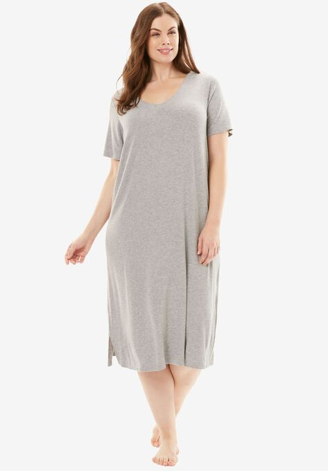 Ribbed Short Lounge Dress by Dreams & Co.®