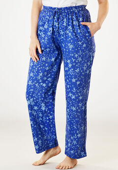 Knit Sleep Pants by Dreams & Co.®, BLUE SAPPHIRE STAR, hi-res