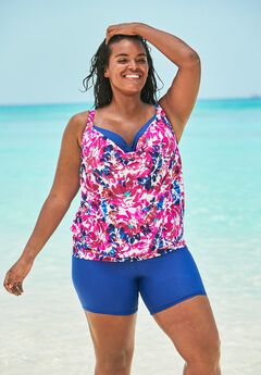 Two-In-One Blouson Tankini Top by Swim 365,