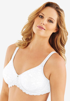 Lilyette® by Bali® Beautiful Support lace Minimizer®, WHITE, hi-res