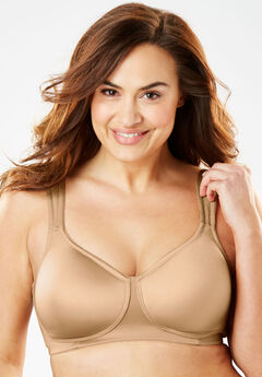 Microfiber Wireless T-Shirt Bra by Comfort Choice®, NUDE