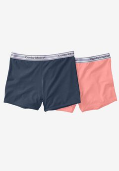 2-Pack Stretch Knit Boyshort by Comfort Choice®, NAVY CORAL PACK