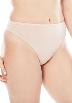 Microfiber Thong by Comfort Choice®, ROSE NUDE