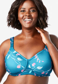 Microfiber Wireless T-Shirt Bra by Comfort Choice®,