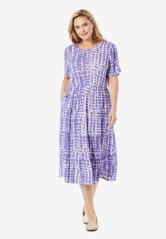 Tie Dye Crinkle Dress,