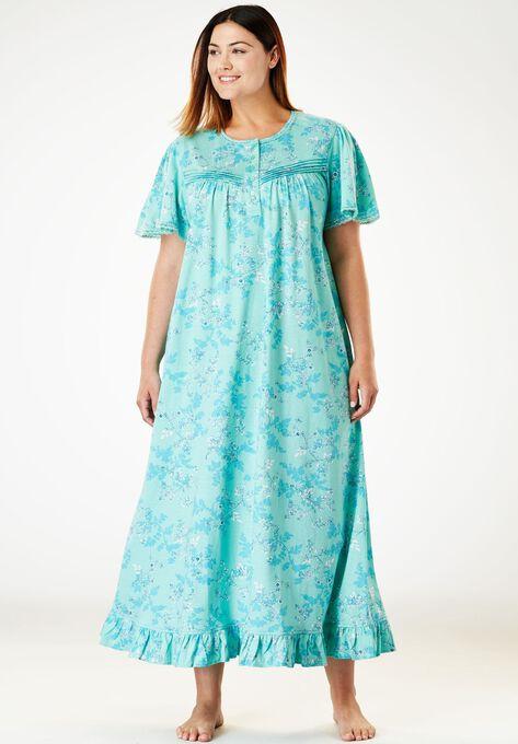 Cotton Knit Gown By Dreams Co Plus Size Lounge Dresses Roamans