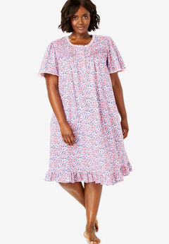 25b058f6a5 Short Floral Print Cotton Gown by Dreams   Co.®