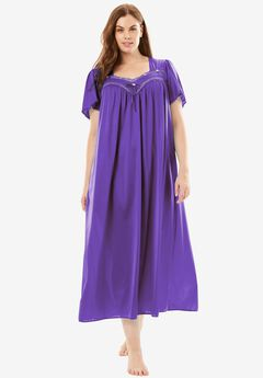 Full-Sweep Nightgown by Only Necessities®, ROYAL GRAPE, hi-res