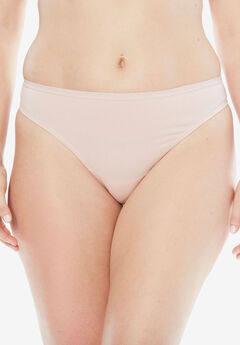 Thong Panty By Comfort Choice®, ROSE NUDE, hi-res