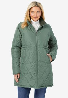 Quilted Down Fill Coat,